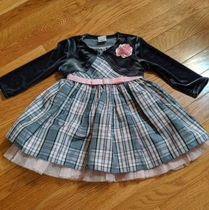 Youngland Baby 12 months girls dress with cardigan